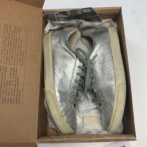 Veja Esplar silver leather sneakers